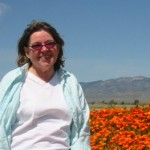 Betty visiting poppy fields in Lancaster,CA